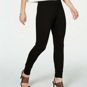 INC Large Shaping Knit Full-Length Leggings Black